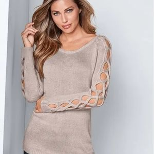 Warm and cozy braided detail sweater